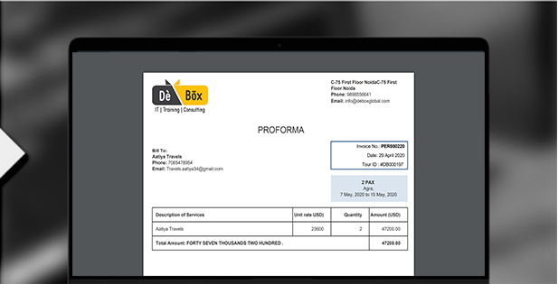 Best travel crm Invoice Generation