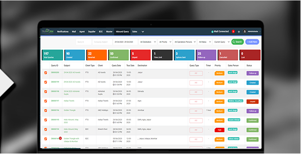 Best travel crm Query Tracker